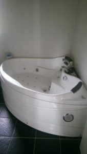 Whirlpool und Sauna im Haus